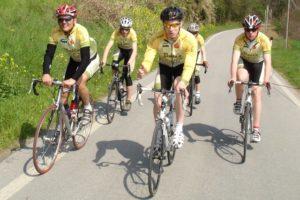 Die Radsportfreunde im Trainingslager in Cesenatico 2009